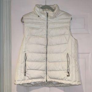 Michael Kors White Puffer Vest